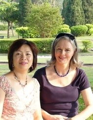 Clare Baillieu and Betty Hung